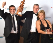 2014 Westpac Northland Business Excellence Awards Supreme Winner - Marine North - Ian Hankins sponsor, Mike Dunn & Tania Dunn